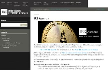 http://www.ire.org/awards/