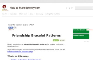 http://www.how-to-make-jewelry.com/friendship-bracelet-patterns.html