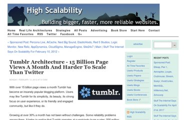 http://highscalability.com/blog/2012/2/13/tumblr-architecture-15-billion-page-views-a-month-and-harder.html