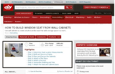 http://www.diynetwork.com/how-to/how-to-build-window-seat-from-wall-cabinets/index.html
