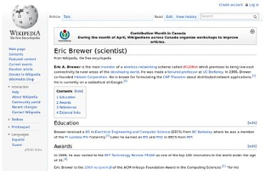 http://en.wikipedia.org/wiki/Eric_Brewer_(scientist)