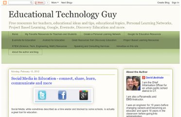 http://educationaltechnologyguy.blogspot.com/2012/02/social-media-in-education-connect-share.html