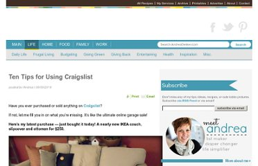 http://www.simpleorganizedliving.com/2010/08/30/ten-tips-for-using-craigslist/