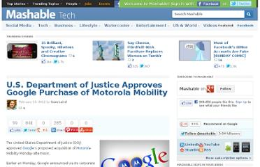 http://mashable.com/2012/02/13/doj-approves-google-motorola-deal/