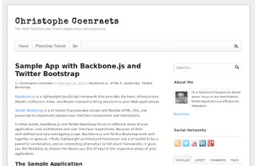 http://coenraets.org/blog/2012/02/sample-app-with-backbone-js-and-twitter-bootstrap/
