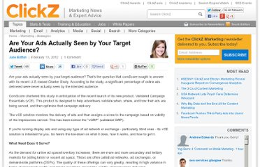 http://www.clickz.com/clickz/column/2144336/ads-actually-seen-target-audience