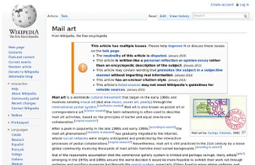http://en.wikipedia.org/wiki/Mail_art