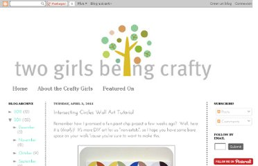 http://twogirlsbeingcrafty.blogspot.com/2011/04/intersecting-circles-wall-art-tutorial.html
