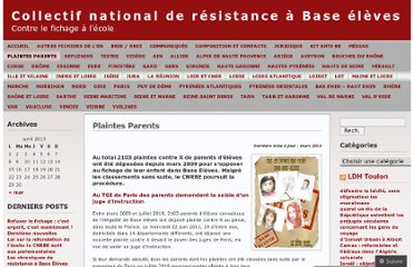 http://retraitbaseeleves.wordpress.com/plaintes-parents/