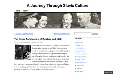 http://russianculture.wordpress.com/2011/01/12/the-paper-architecture-of-brodsky-and-utkin/