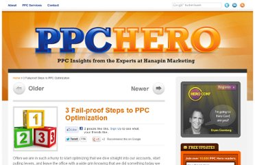 http://www.ppchero.com/3-fail-proof-steps-to-ppc-optimization/