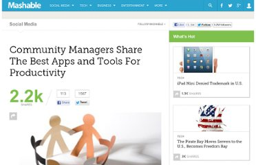 http://mashable.com/2012/02/14/community-manager-productivity-tools/