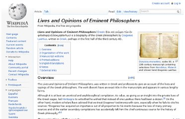http://en.wikipedia.org/wiki/Lives_and_Opinions_of_Eminent_Philosophers