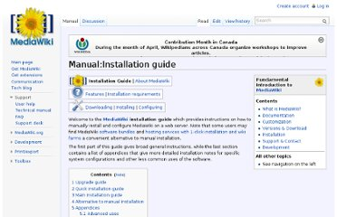 http://www.mediawiki.org/wiki/Manual:Installation_guide
