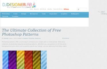 http://djdesignerlab.com/2010/06/01/the-ultimate-collection-of-free-photoshop-patterns/