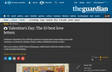 http://www.guardian.co.uk/books/gallery/2012/feb/14/valentines-day-best-love-letters#/?picture=385830909&index=0