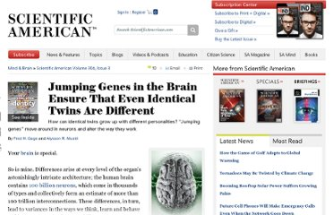 http://www.scientificamerican.com/article.cfm?id=what-makes-each-brain-unique