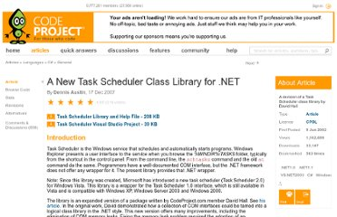 http://www.codeproject.com/Articles/2407/A-New-Task-Scheduler-Class-Library-for-NET