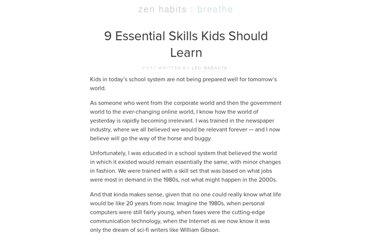 http://zenhabits.net/kid-skills/