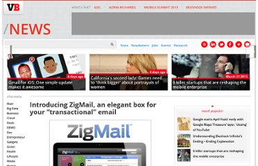 http://venturebeat.com/2012/02/14/introducing-zigmail-an-elegant-box-for-your-transactional-email/