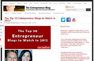 http://www.evancarmichael.com/blog/2012/02/14/the-top-50-entrepreneur-blogs-to-watch-in-2012/