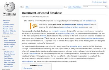 http://en.wikipedia.org/wiki/Document-oriented_database