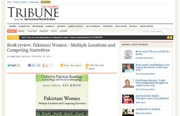 http://tribune.com.pk/story/306532/book-review-pakistani-women-multiple-locations-and-competing-narratives/
