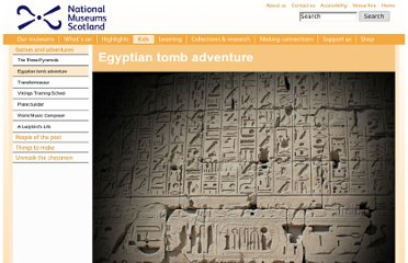 http://www.nms.ac.uk/education__activities/kids_only/egyptian_tomb_adventure.aspx