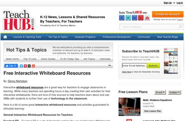 http://www.teachhub.com/free-interactive-whiteboard-resources
