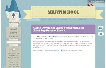 http://martinkool.com/post/17611582440/game-developer-gives-7yr-old-best-birthday-present-ever