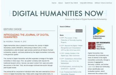 http://digitalhumanitiesnow.org/2012/02/introducing-the-journal-of-digital-humanities-2/
