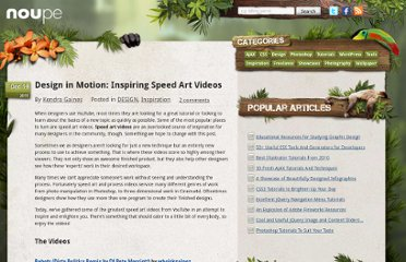 http://www.noupe.com/design/design-in-motion-inspiring-speed-art-videos.html