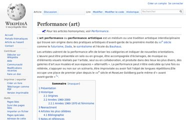 http://fr.wikipedia.org/wiki/Performance_(art)