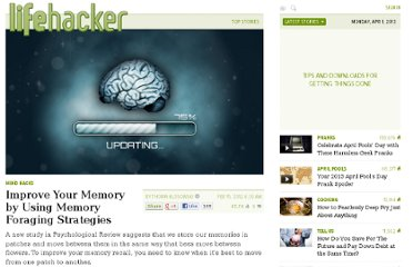 http://lifehacker.com/5885293/improve-your-memory-by-using-memory-foraging-strategies