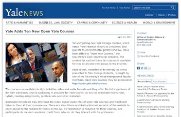 http://news.yale.edu/2011/04/14/yale-adds-ten-new-open-yale-courses