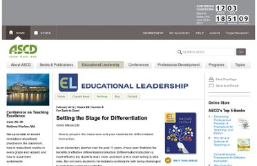 http://www.ascd.org/publications/educational-leadership/feb12/vol69/num05/Setting-the-Stage-for-Differentiation.aspx