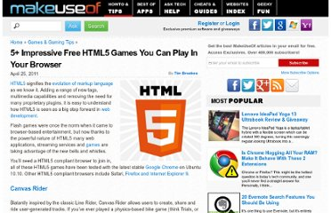 http://www.makeuseof.com/tag/5-impressive-free-html5-games-play-browser/