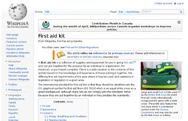 http://en.wikipedia.org/wiki/First_aid_kit