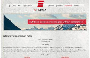 http://www.enerex.ca/en/articles/calcium-to-magnesium-ratio