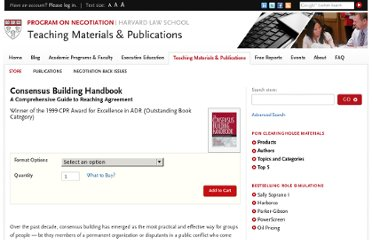 http://www.pon.harvard.edu/shop/consensus-building-handbook/