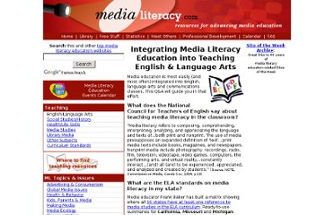 http://medialiteracy.com/teaching_english.htm