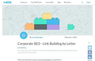http://www.seomoz.org/blog/corporate-seo-link-building-by-letter-11797