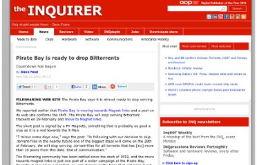 http://www.theinquirer.net/inquirer/news/2151838/pirate-bay-ready-drop-bittorrents
