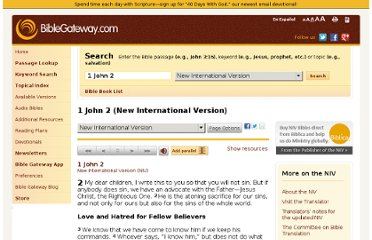 http://www.biblegateway.com/passage/?search=1+John+2&version=NIV