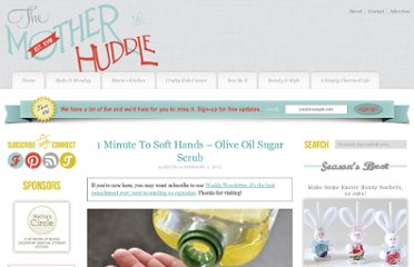 http://www.themotherhuddle.com/1-minute-to-soft-hands-olive-oil-sugar-scrub/