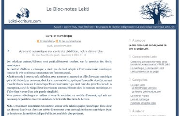 http://www.lekti-ecriture.com/bloc-notes/index.php/category/La-numerisation-des-savoirs