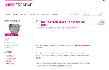 http://justcreative.com/2009/03/04/the-top-100-best-fonts-of-all-time/