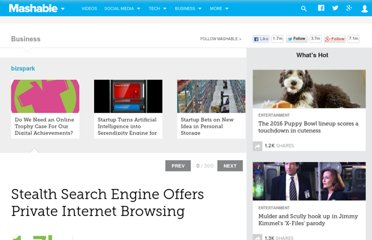 http://mashable.com/2012/02/15/stealth-search-engine/