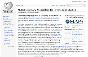 http://en.wikipedia.org/wiki/Multidisciplinary_Association_for_Psychedelic_Studies