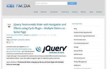 http://www.parorrey.com/blog/front-end-development/jquery-testimonials-slider-with-navigation-and-effects-using-cycle-plugin-multiple-sliders-on-same-page/